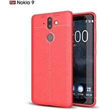 Nokia 8 Sirocco Case, TopACE [Shock Absorption] Flexible TPU Soft Skin Silicone Cover for Nokia 9 / Nokia 8 Sirocco (Red)