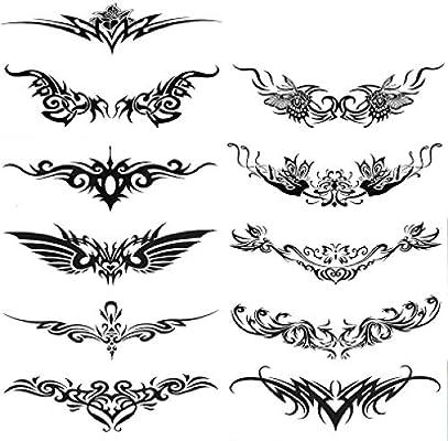 KAMRL Tatuaje Falso Tatuaje Tatuajes Impermeables Pegatinas ...