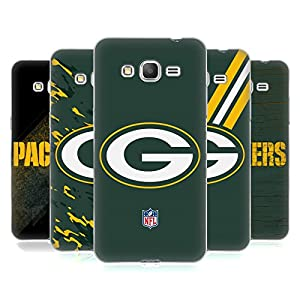 Official NFL Green Bay Packers Logo Soft Gel Case for Samsung Galaxy Grand Prime by Head Case Designs