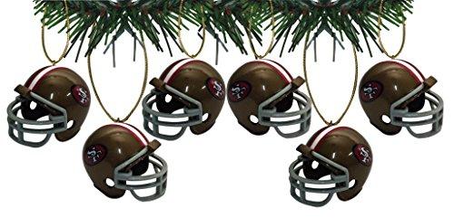 - San Francisco 49ers Football Helmet Ornaments Set Of 6