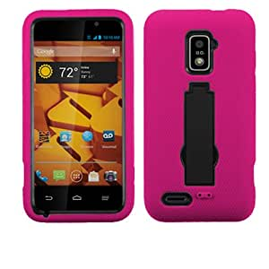 ZTE Warp 4G N9510 Pinkk And Black Hardcore Kickstand Case