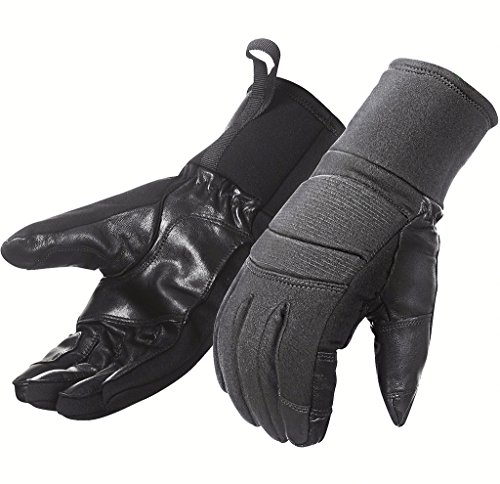 Ranger Gloves Designed For Military & Tactical Missions. Excellent Custom Fit, Very Flexible, Water Resistant Real Leather Goat Skin Palm. Perfect for Cycling, Hunting, Outdoor