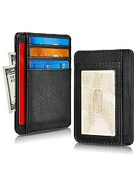 RFID Blocking Credit Card Case Holder,Pocket Leather Minimalist Slim Card Wallet