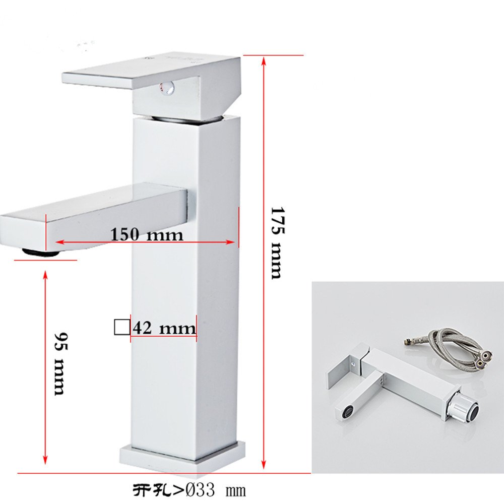 LHbox Basin Mixer Tap Bathroom Sink Faucet The Space Aluminum Cold Water-Water Single Hole Faucet Toilet-Table, wash-Hand Basin vanities,688005
