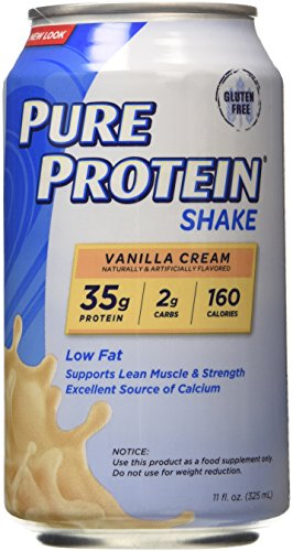 Pure Protein 35g Shake - Vanilla Cream, 11 ounce, (Pack of 12)