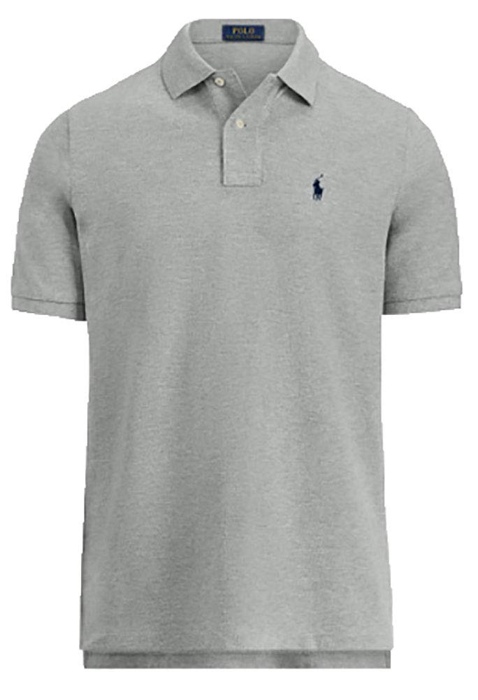 Polo Ralph Lauren Classic Fit Mesh Polo Shirt (Small, Andover Heather)