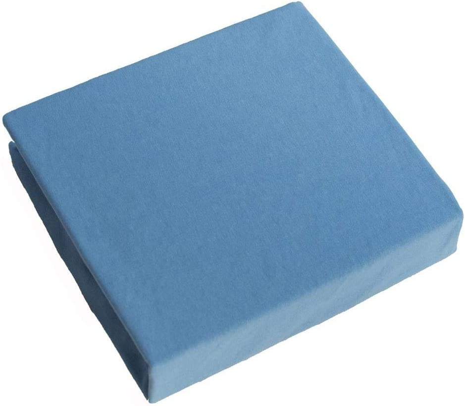 Cot Jersey Fitted Sheet 120x60cm Blue