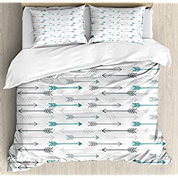 Favorite Amazon.com: Arrow Decor Duvet Cover Set Queen Size by Ambesonne  NT15