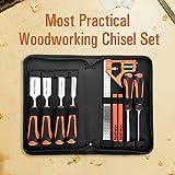 TICOFTECH Wood Chisel Set, 9 Pieces Chisel Set, 6