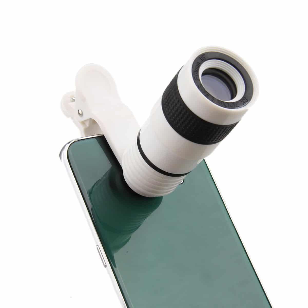 ONX3 Acer One 10 10.1'' (White 8x Zoom) Universal Clip-on 8x Zoom Optical Telescope Manual Focus Phone Camera Lens by ONX3® (Image #2)