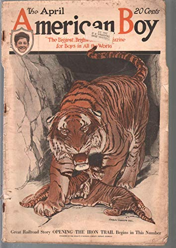 American Boy 4/1919-C L Bell tiger cover-adventure-pulp fiction-FR/G