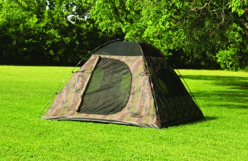 Texsport 5 Person Headquarters Camo Square Dome Family Camping Backpacking Tent