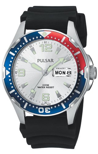 Pulsar Men's PXN109 Sport Black Polyurethane Strap Watch