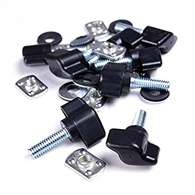 MOEBULB Hardtop Quick Removal Thumb Screw + Nut + Washer + Tie-Down D-Rings Black 8pcs/Set for Jeep Wrangler JK YJ TJ JKU: Automotive