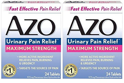 Azo Urinary Pain Relief Max Strength 24 count Tablets x 2