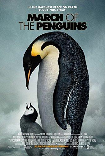 Hike OF THE PENGUINS Original Movie Poster 27x40 - DS - Morgan Freeman - Charles Berling - Romane Bohringer - Jules Sitruk