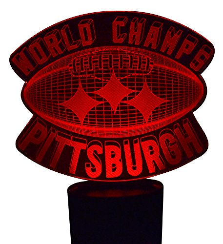 Football W/World Champs 3D LED Lamp