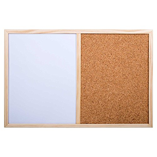 outlet Office Works, Half Cork and Half White Board, 18 x 12 inches ...