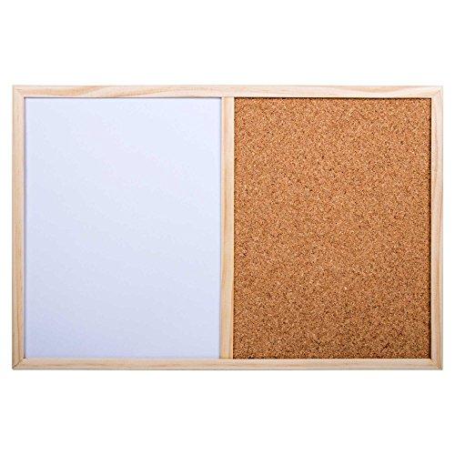- CTG, Small Half Cork and Half White Board, 11.5 x 17.5 inches, White, Wood, Beige