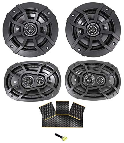 "(2) Kicker 40CS654 6.5""+(2) Kicker 40CS6934 6x9 Car Audio Speakers + Rockmat"