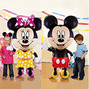 Amazon.com: Globo con diseño de Mickey Minnie Mouse de 44.1 ...