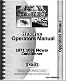 Hesston 1071 1091 Mower Conditioner Operators Manual