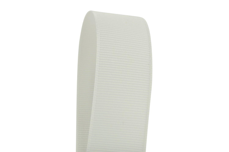Ribbon Bazaar Solid Grosgrain Ribbon 3 inch White 50 Yards 100% Polyester