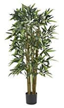 Nearly Natural 5282 Biggie Bamboo Silk Tree, 4-Feet, Green