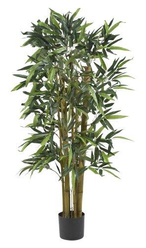 (Nearly Natural 5282 Biggie Bamboo Silk Tree, 4-Feet, Green )