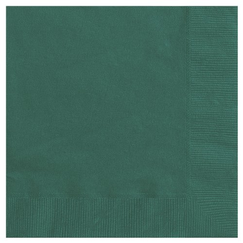 011179032419 - 20 Count Cocktail Napkins, Forest Green carousel main 0
