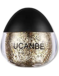 UCANBE Cream Glitter Gel for Body and Face, 0.63 fl. Oz (gold)
