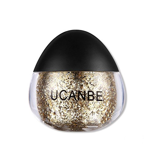 - UCANBE Cream Glitter Gel for Body and Face, 0.63 fl. Oz (gold)