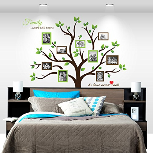 Amazon.com: Timber Artbox Large Family Tree Photo Frames Wall Decal - The  Sweetest Highlight of Your Home and Family: Home u0026 Kitchen