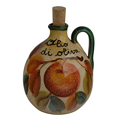 Italian Dinnerware - Olive Oil Cruet - Handmade in Italy from our Frutta Laccata Collection