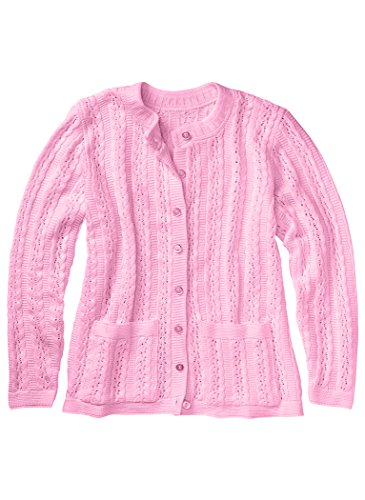 Cable Stitch Cardigan Rose