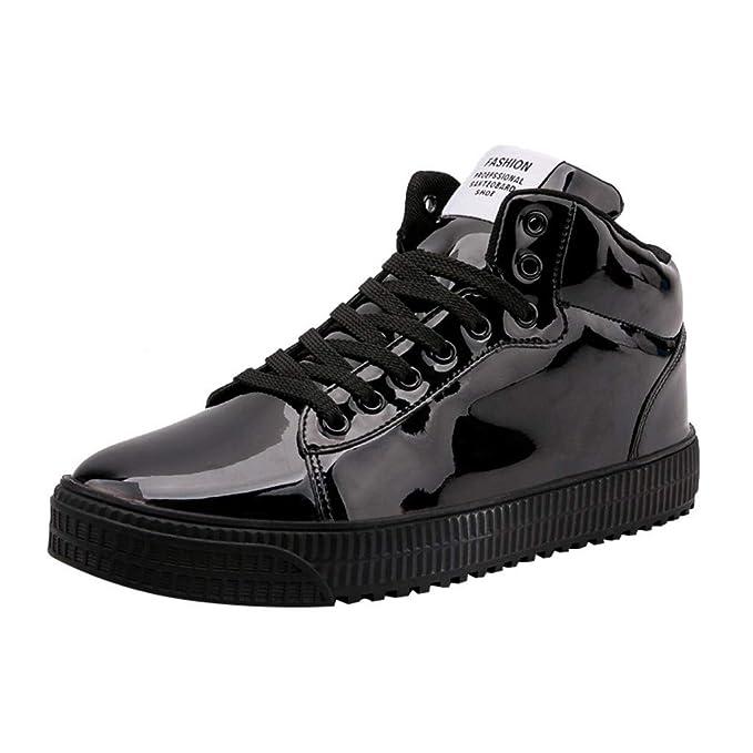 507f2e1716c91 Amazon.com: Women Men Running Shoes Colorful Mirror Trend Sneakers ...
