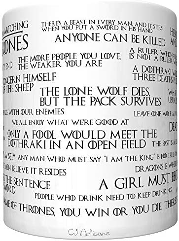Lessons I Learned From Watching Game of Thrones (Old Edition) Coffee Mug [gotl] 4