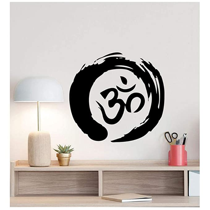 Zen Circle Om Symbol Tatuajes de pared Ohm Budismo Poster Yoga ...