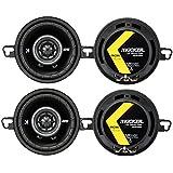 4) Kicker 43DSC3504 3-1/2 3.5 160 Watt 2-Way Car Audio Speakers DSC35 DS35