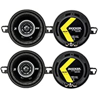 4) Kicker 43DSC3504 3-1/2 3.5 160 Watt 2-Way Car Audio Speakers DSC35 DS35