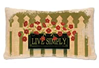 Heritage Lace Welcome Live Simply Pillow, 12 by 20-Inch, Natural