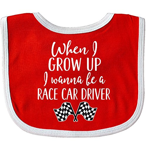 Inktastic - Future Race Car Driver Childs Baby Bib Red/White 2c4ae