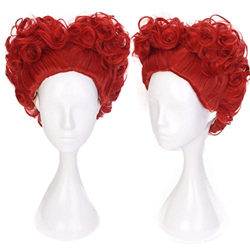 (Ani·Lnc Short Red Curly Synthetic Cosplay Hair Wigs For)