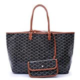 LOYEOY Large Tote Purse Classic Travel & Shopping Top Handle Handbags Shoulder Bags for Women(Black2GM)