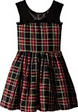 fiveloaves twofish Girl's Winter Tartan Party Dress (Little Kids/Big Kids) Black 8