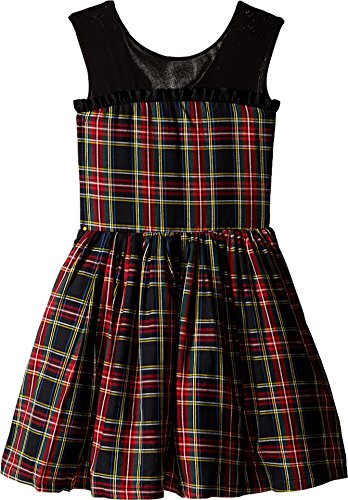 fiveloaves twofish Girl's Winter Tartan Party Dress (Little Kids/Big Kids) Black 8 by fiveloaves twofish