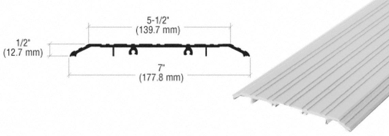 CRL Aluminum 7'' x 1/2'' Saddle Threshold - 185'' in Length