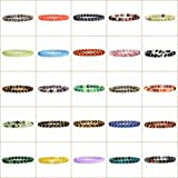 "Justinstones Gem Semi Precious Gemstone 8mm Round Beads Stretch Bracelet 7"" Unisex"