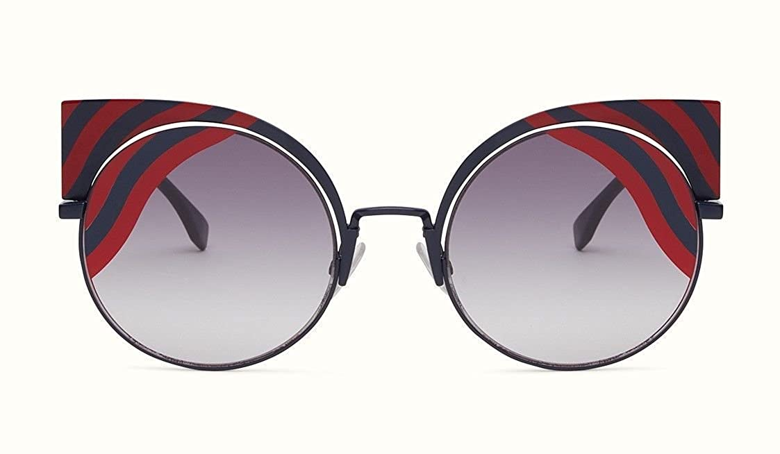 ac6c09279603 Amazon.com  New Fendi HYPNOSHINE FF 0215 S 0M1 9L blue red smoke shaded  Sunglasses  Clothing