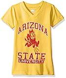 NCAA Arizona State Sun Devils Children Girls V-Neck Short Sleeve Tee,4T,Bold Gold Blend